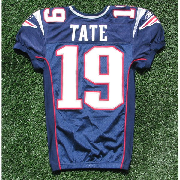 2010 Brandon Tate Game Worn #19 Navy Jersey