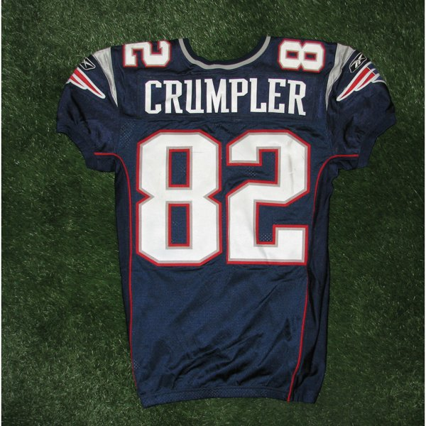 2010 Alge Crumpler Game Worn #82 Navy Jersey
