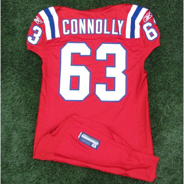 2010 Dan Connolly Game Worn #63 Red Jersey