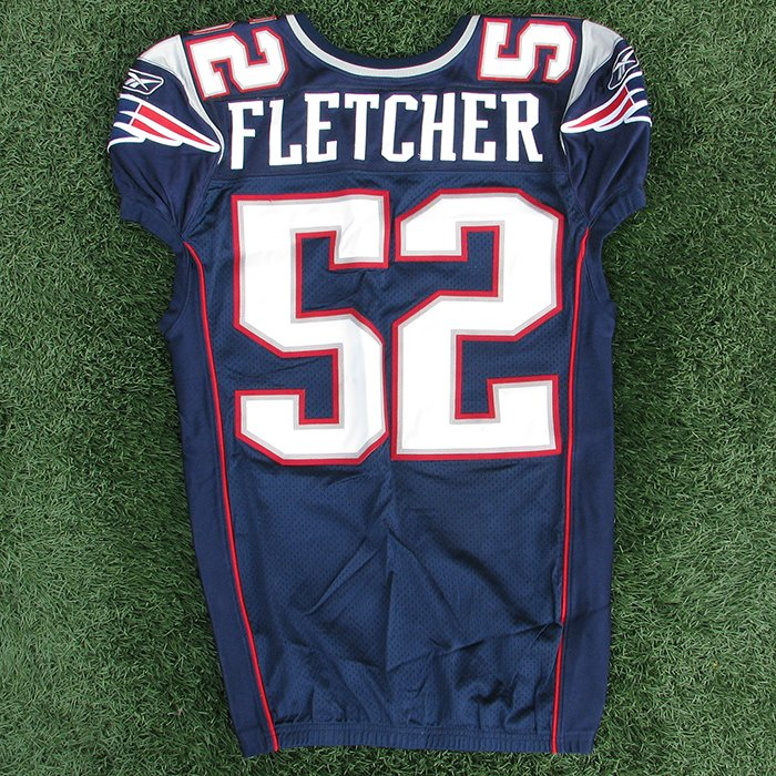 2010 Dane Fletcher Game Worn #52 Navy Jersey