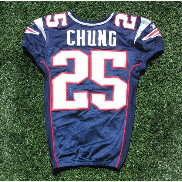 2010 Patrick Chung Game Worn #25 Navy Jersey