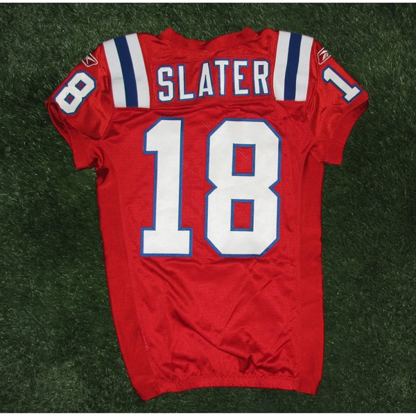 2010 Matthew Slater #18 Game Worn Throwback Red Jersey