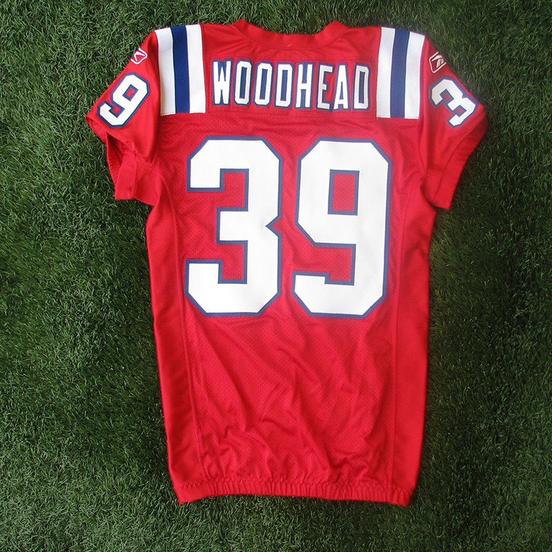 2010 Danny Woodhead #39 Team Issued Red Jersey w/MHK Patch