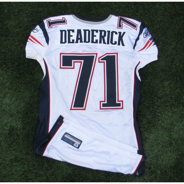 2011 Brandon Deaderick Game Worn #71 White Jersey w/MHK Patch