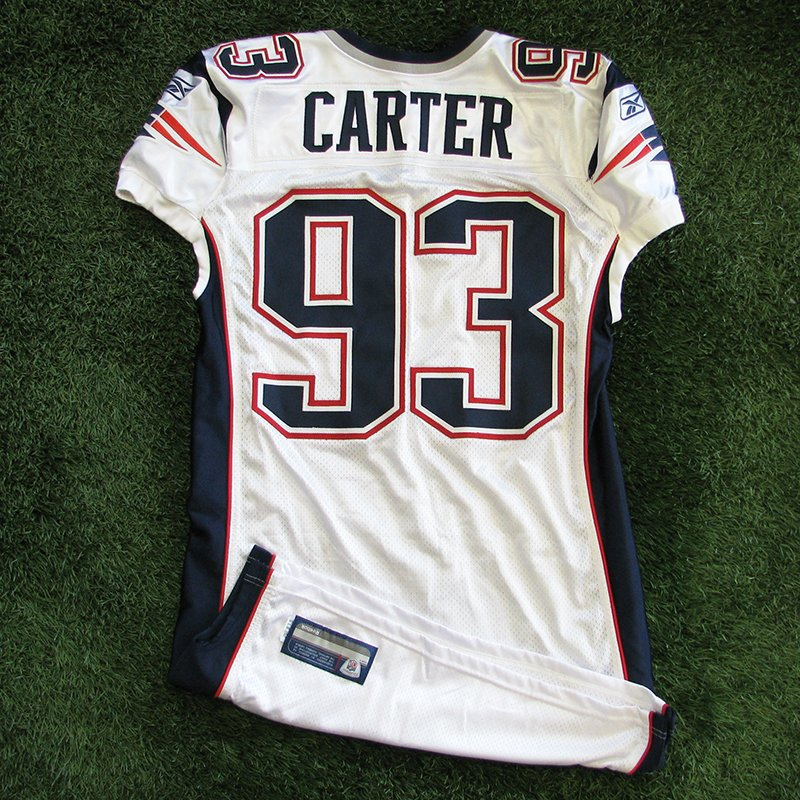 2011 Andre Carter Team Issued #93 White Jersey