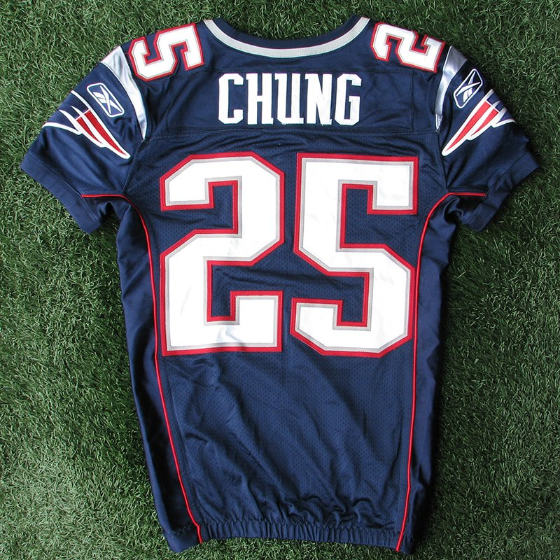 2011 Patrick Chung Team Issued #25 Navy Jersey