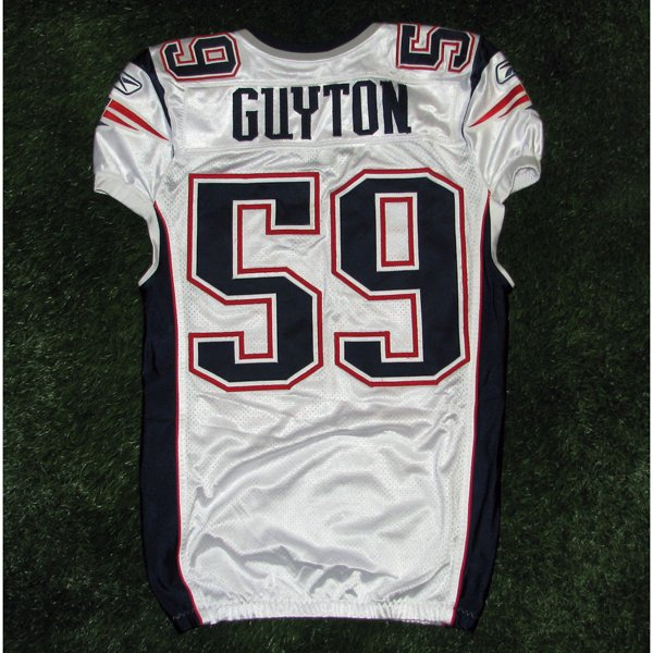 2011 Gary Guyton Game Worn #59 White Jersey w/MHK Patch