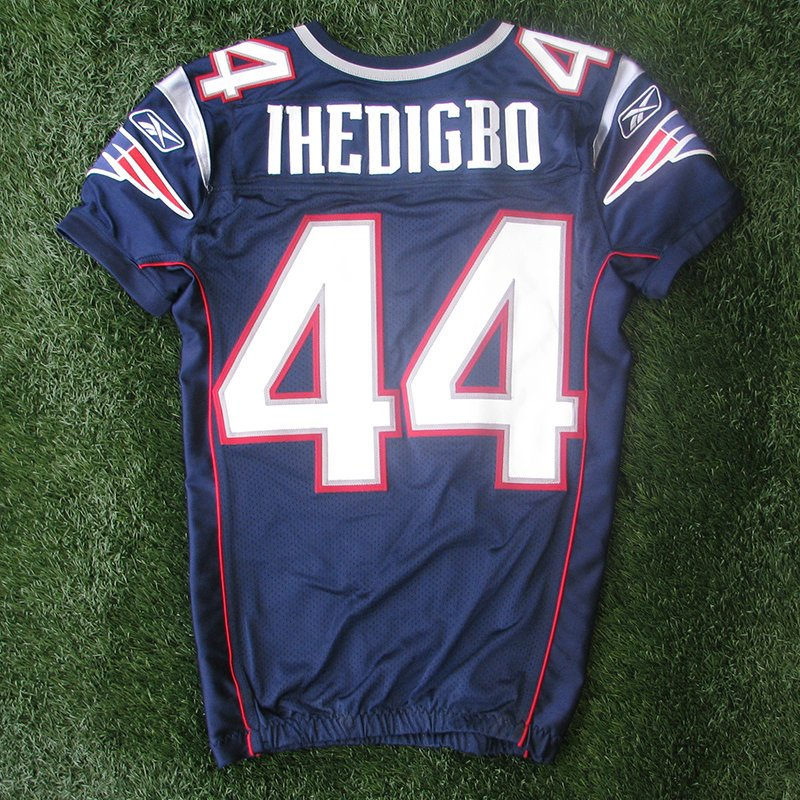 2011 James Ihedigbo #44 Team Issued Navy Jersey w/MHK Patch