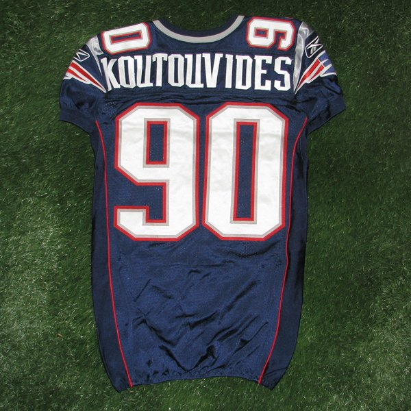 2011 Niko Koutouvides Game Worn #90 Navy Jersey w/MHK Patch