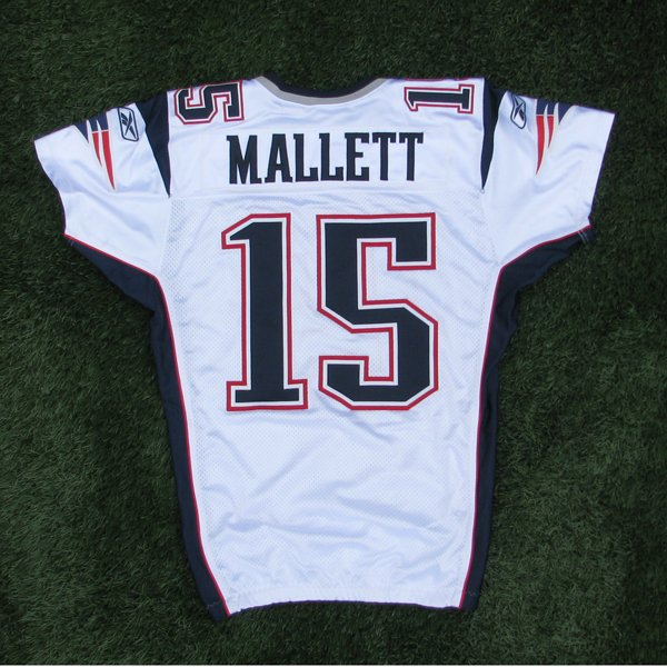 2011 Ryan Mallett Team Issued #15 White Jersey w/MHK Patch