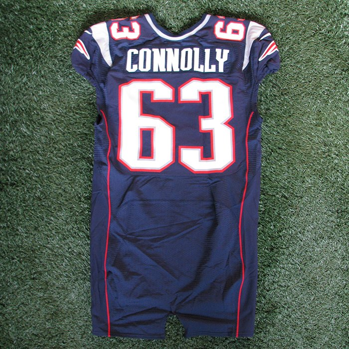 2012 Dan Connolly Game Worn #63 Navy Jersey