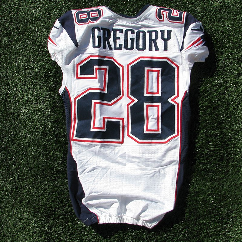 2012 Steve Gregory Team Issued #28 White Jersey w/ Intl Patch