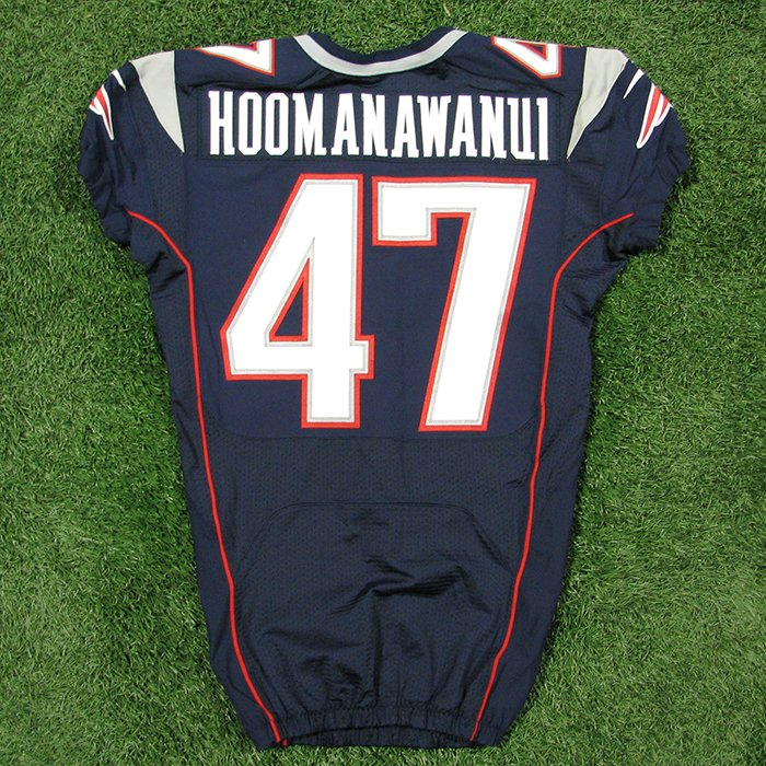 2012 Michael Hoomanawanui Team Issued #47 Navy Jersey