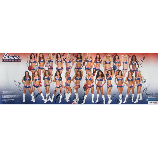 2012 Autographed Cheerleader Poster