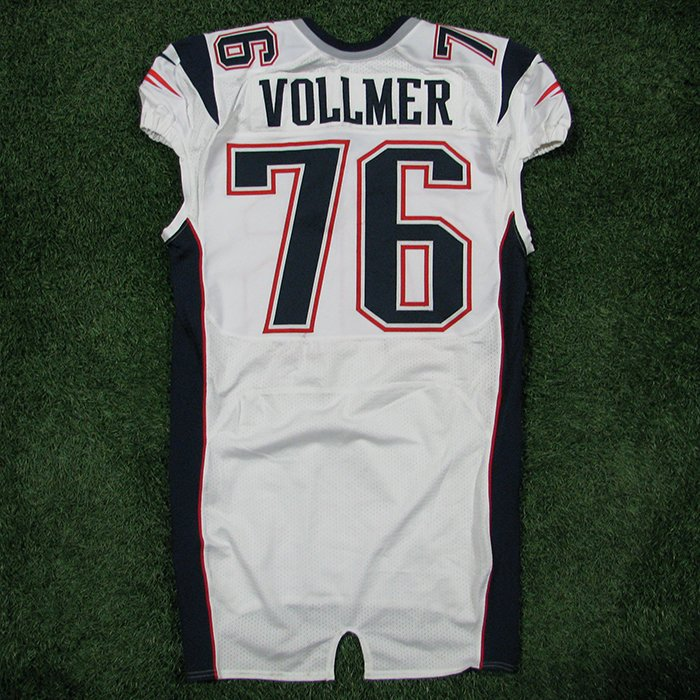 2012 Sebastian Vollmer Team Issued #76 White Jersey