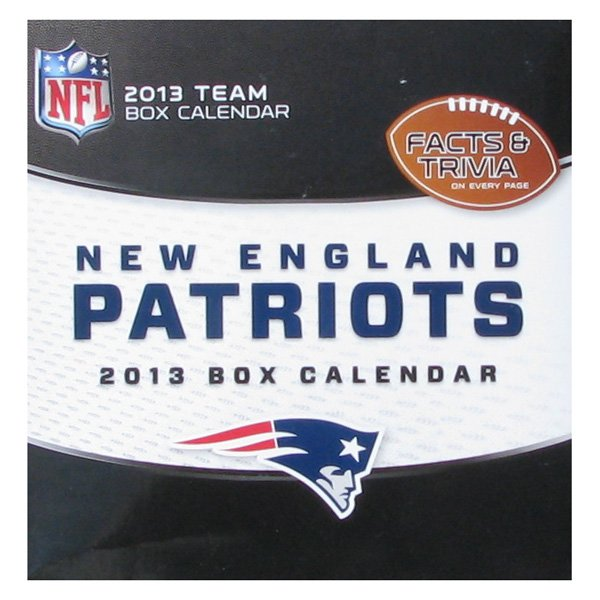 2013 Patriots Box/Desk Calendar
