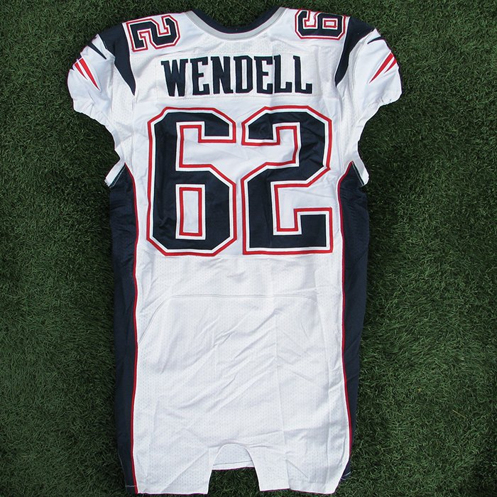 2013 Ryan Wendell Game Worn White Jersey