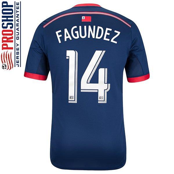 Diego Fagundez #14 14/15 Replica Jersey-Navy