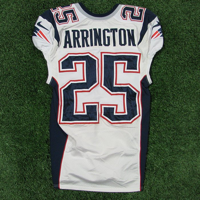 2014 Kyle Arrington Team Issued #25 White Jersey
