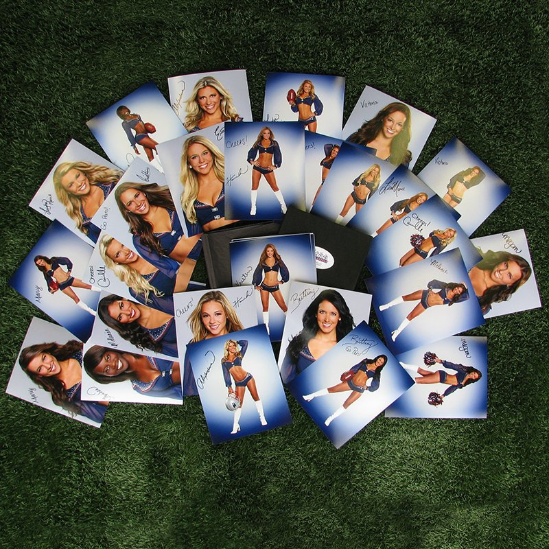 2014 Patriots Cheerleaders Autographed Photo Box Set