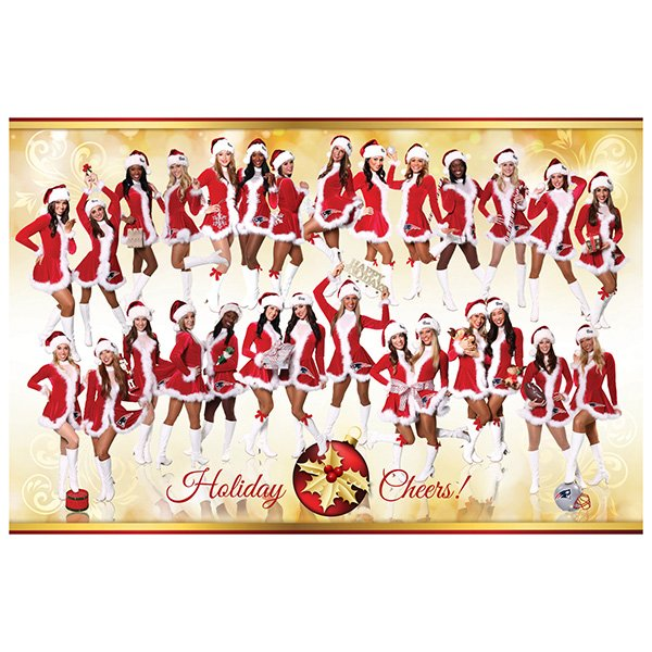 Patriots Cheerleader 2014 Holiday Poster