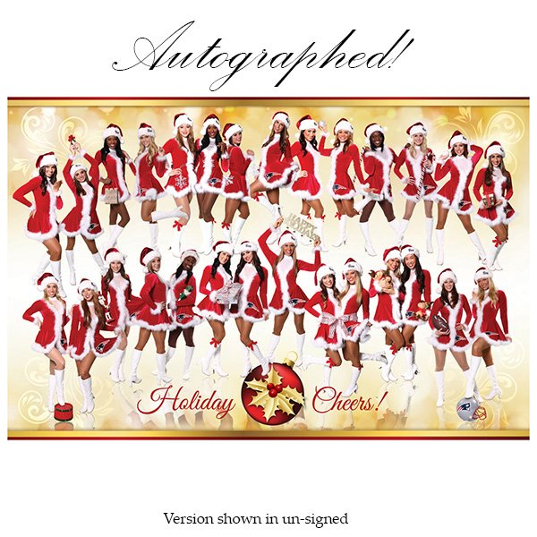Autographed Patriots Cheerleader 2014 Holiday Poster