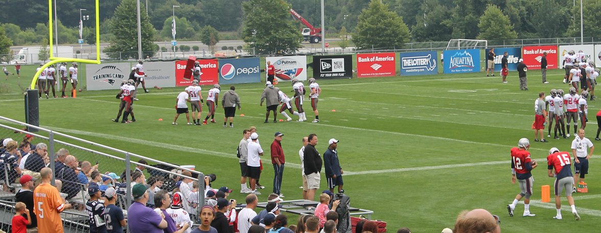 VIP Seating at 2015 Patriots Training Camp