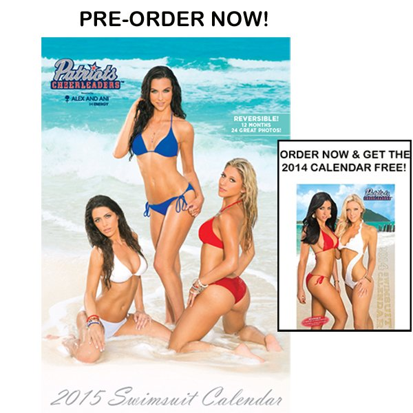 2015 New England Patriots Cheerleader Swimsuit Calendar