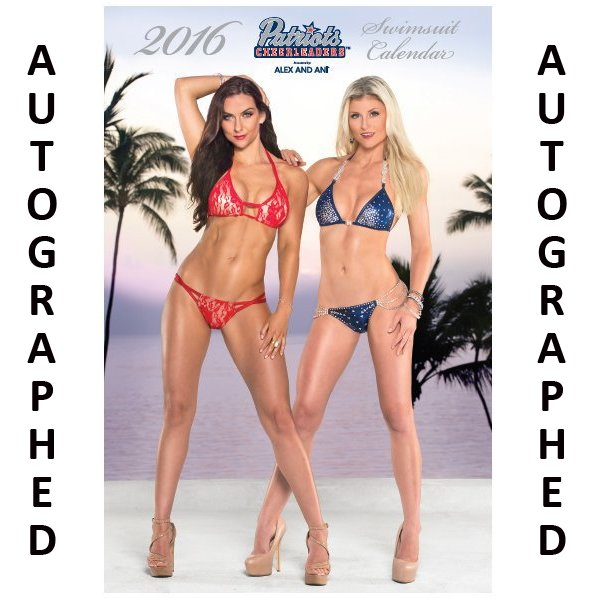 2016 Autographed Cheerleader Swimsuit Calendar