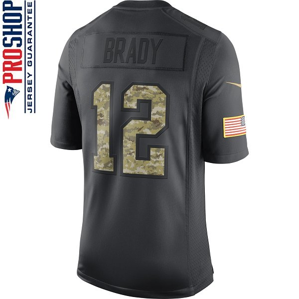 Youth Brady #12 Salute To Service Jersey-Charcoal