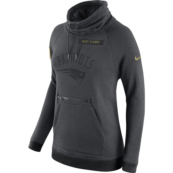 Ladies Nike 2016 Salute To Service Hood-Charcoal