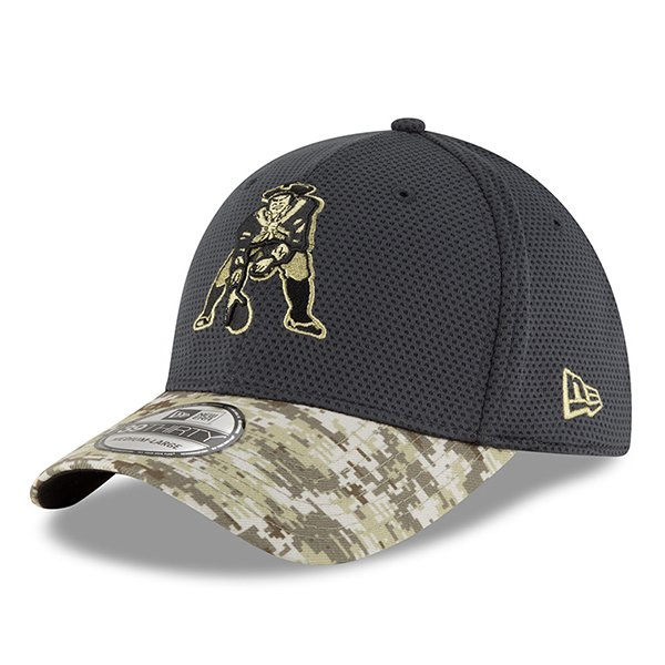 New Era Throwback Salute To Service 39Thirty Cap-Charcoal/Camo
