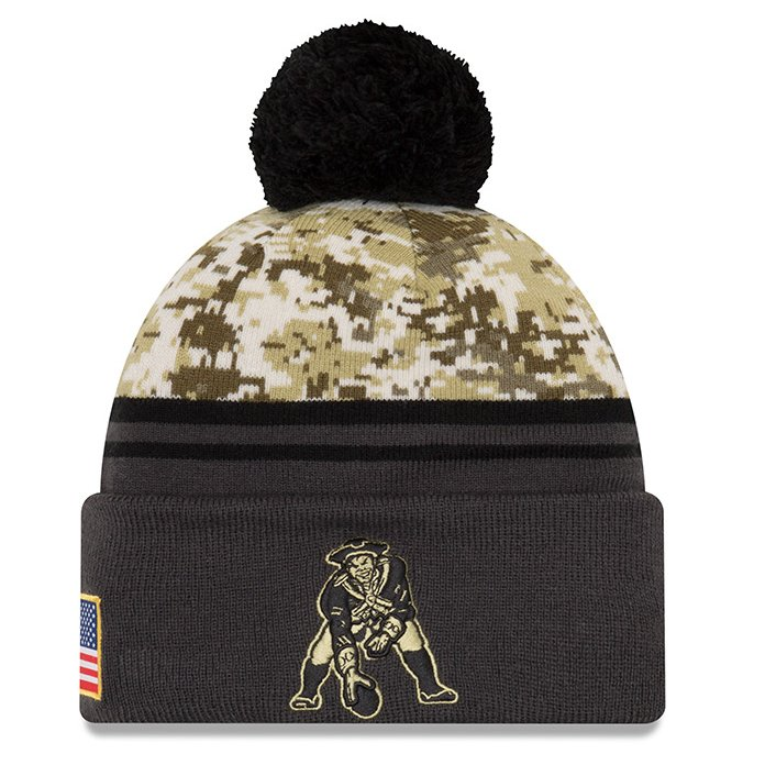 New Era 2016 Throwback Salute To Service Knit Hat-Charcoal