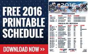 2016 Printable Schedule Promo Box - Promo Box