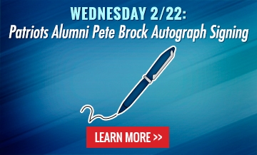 Wednesday 2/22: Patriots Alumni Pete Brock Autograph Signing