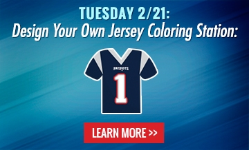 Tuesday 2/21: Design Your Own Jersey Coloring Station