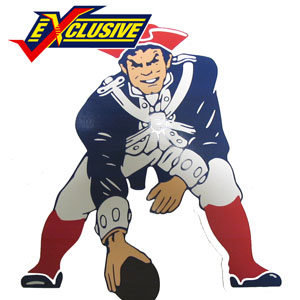 Patriots 12inch Throwback Magnet