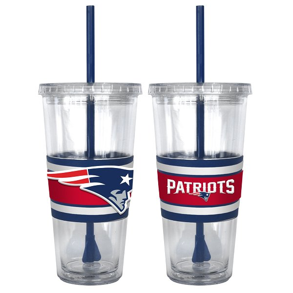 Patriots 22oz 3D Straw Tumbler