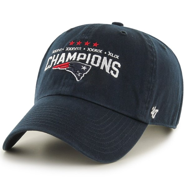 '47 Brand 4 Time Super Bowl Champions Slouch Cap-Navy
