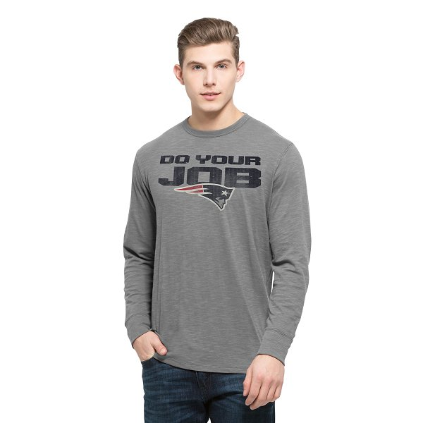 '47 Brand Do Your Job Long Sleeve Tee-Gray