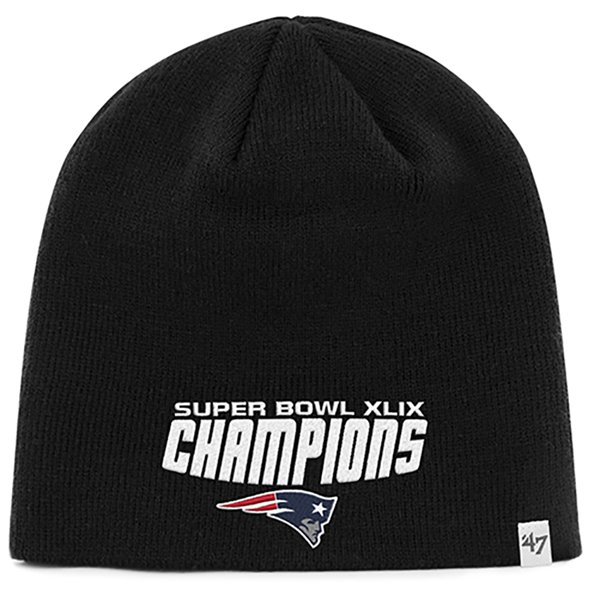 Super Bowl XLIX Champs Beanie-Black by 47 Brand