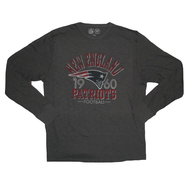 '47 Brand Long Sleeve Scrum Tee-Charcoal