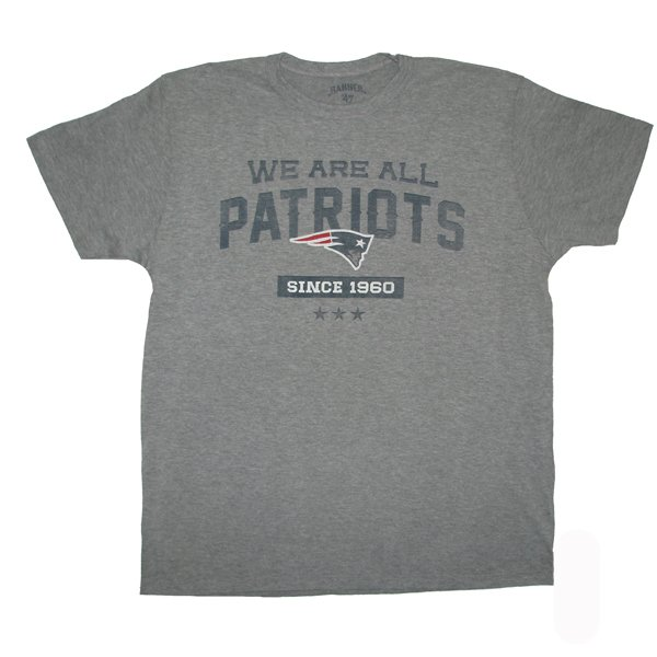 '47 Brand We Are All Patriots Tee-Gray