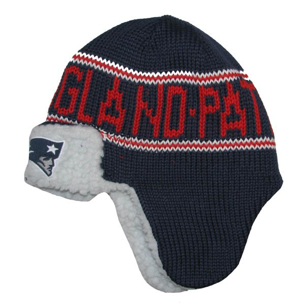 Patriots 47 Brand Yeti Trooper Hat-Navy