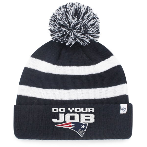 Do Your Job Knit Hat-Navy/White