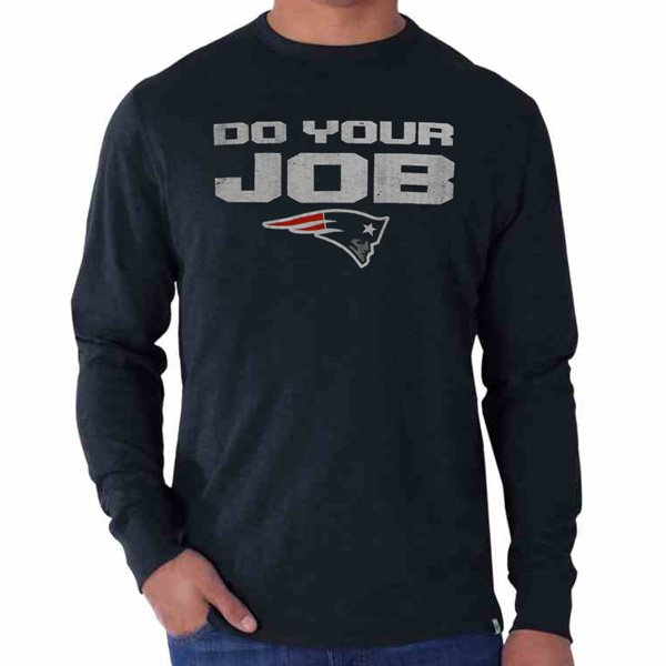 Do Your Job Long Sleeve Tee-Navy