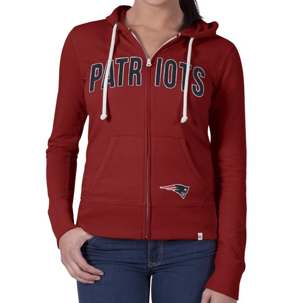 Ladies '47 Brand Pep Rally Full Zip Hood-Red