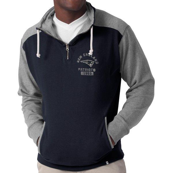 '47 Brand 1/4 Zip Division Sweatshirt-Navy/Gray