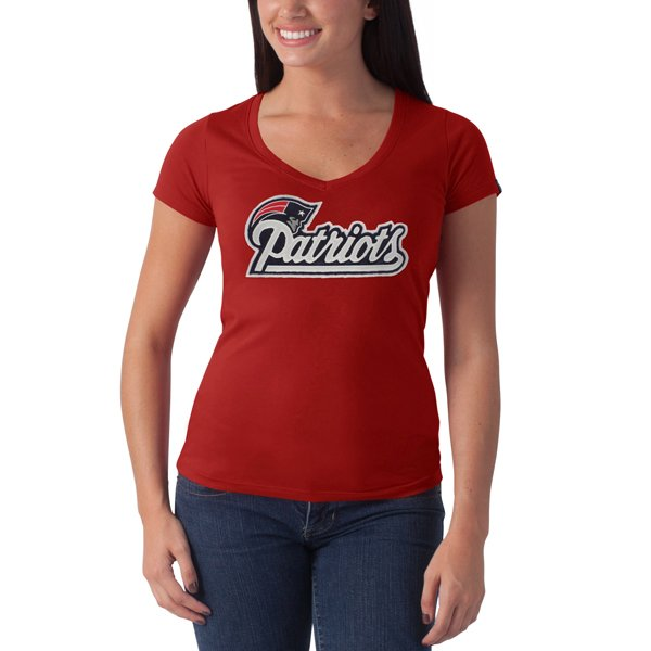Ladies '47 Brand Showtime Tee-Red