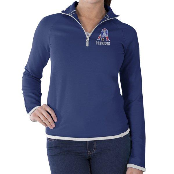 Ladies '47 Brand Throwback Showdown 1/4 Zip-Blue